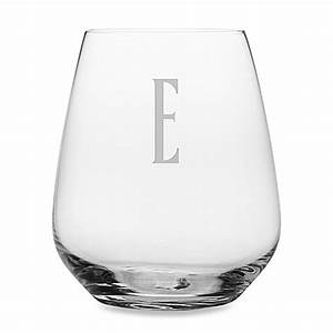 buy susquehanna glass monogrammed block letter quote With letter wine glasses