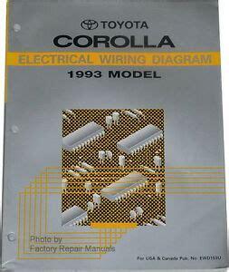 Toyota Corolla Electrical Wiring Diagrams Original