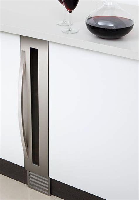 super slim wine cooler   tiny nyc apartment kitchen