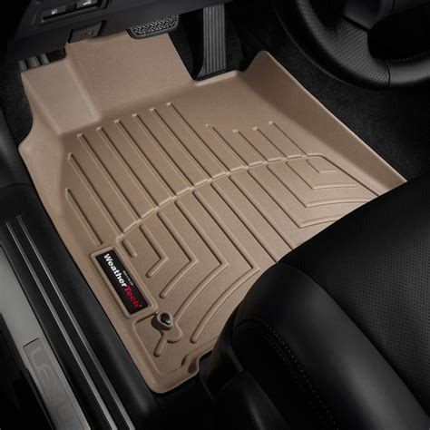 weathertech floor mats weathertech 174 452071 digitalfit 1st row tan molded floor liners