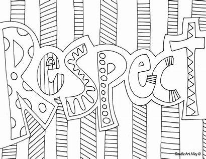 Coloring Word Doodle Alley Respect