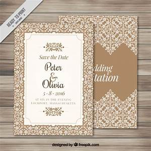 elegant wedding invitation with an ornamental frame vector With elegant wedding invitations eps