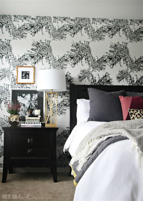 master bedroom accent wall  wallpaper    bliss