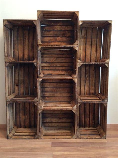 Bücherregal Aus Obstkisten by Regal Aus Weinkisten Diy