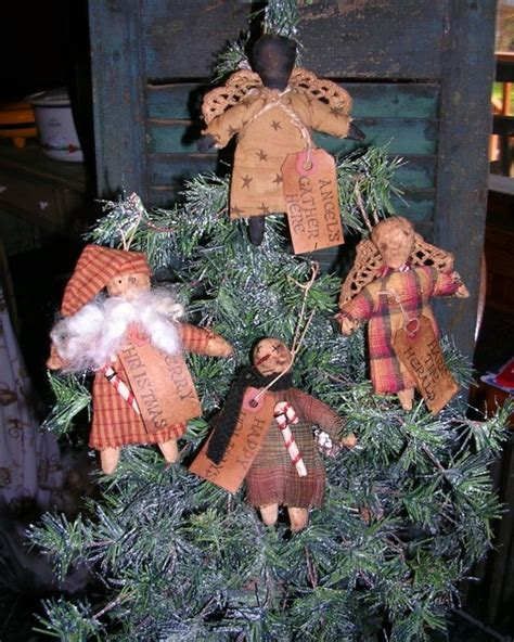 primitive christmas ornie pattern holiday ornaments simple