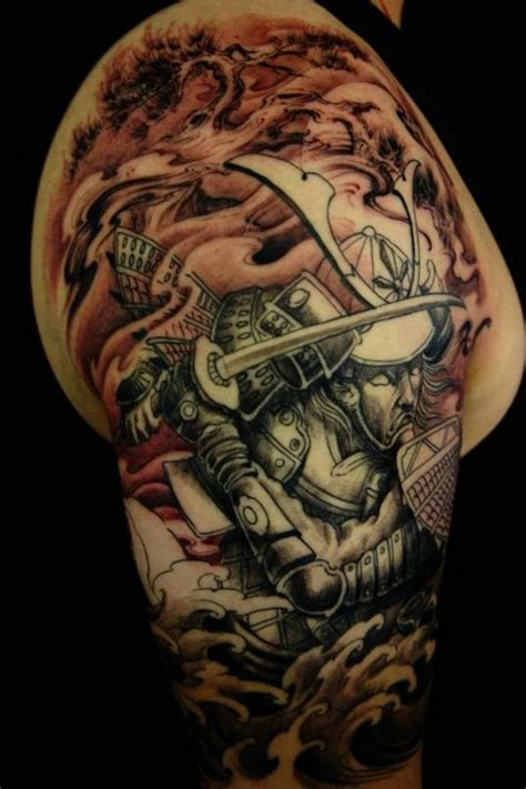 samurai  sleeve tattoo ideas  men sleeve tattoos