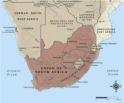 Map Of South Africa In 1914