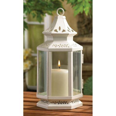table lanterns in bulk white metal iron glass hanging tabletop pillar votive