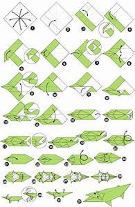 Origami Crocodile Instructions Diagram