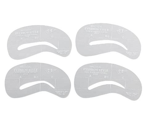 Eyebrow Templates Printable by 4 Best Images Of Printable Eyebrow Stencils Kit