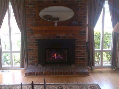 raised gas insert portland fireplace shop