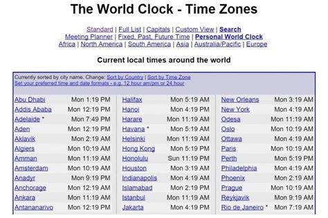 world clock anniversary