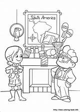 Coloring Pages Disney Pixar Ellie Movies Colouring Children sketch template