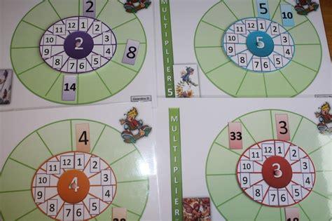 jeu maths ce1 la roue des multiplications multiplications divisions math and