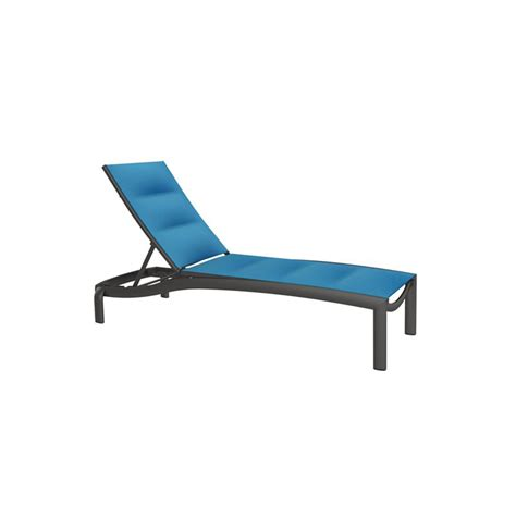 chaise promo tropitone 891533ps kor padded sling armless chaise lounge