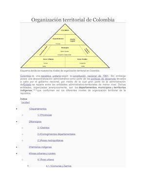 Calaméo Organización Territorial De Colombia