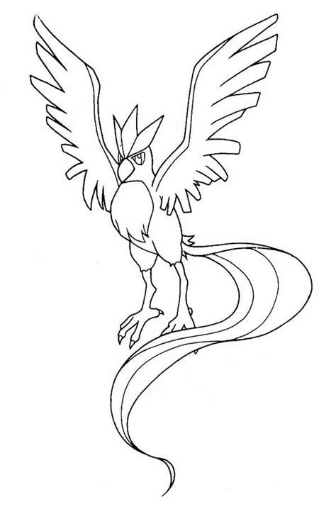 Kleurplaat Zapdos by Coloring Pages Articuno