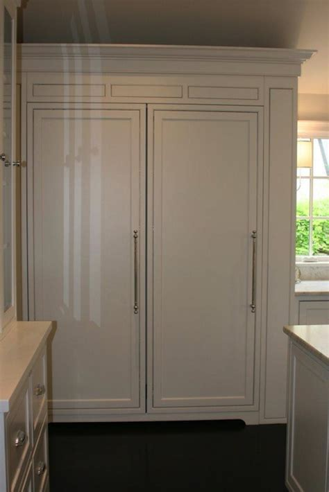 Wood Paneled Refrigerator   Traditional   kitchen   West