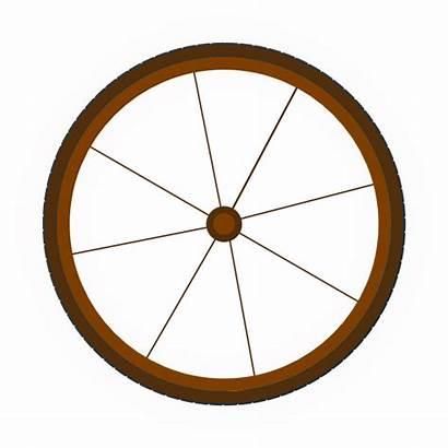 Wheel Wagon Clip Vector Clipart Cliparts Clker