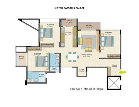 Nitesh Caesars Palace Floor Plan by 4bhk Apartment For Sale In Kanakapura Road Bangalore At