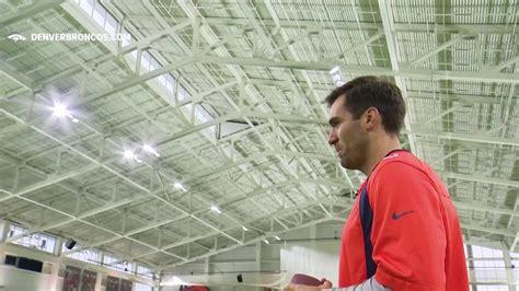 Denver Broncos quarterback Joe Flacco runs drills with ...