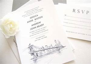 new york skyline wedding invitations With wedding invitations with new york skyline