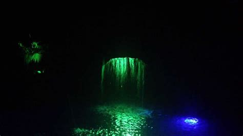 pool waterfall by light me up color changing landscape