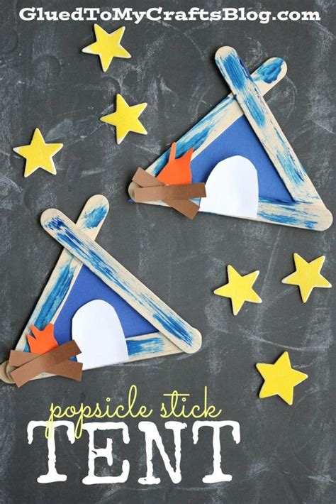 popsicle stick tent kid craft summer boredom boredom 315 | b91df1511286d2cf32634feed5eaaf36