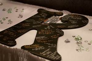 items similar to free shipping wedding guest book With giant letter guest book