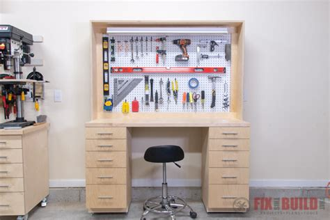 diy garage workbench  storage fixthisbuildthat