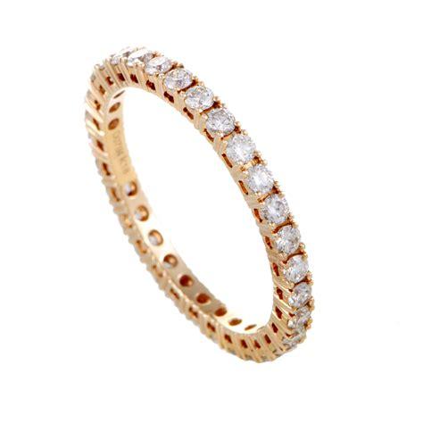 Bridal Womens 18k Rose Gold Diamond Eternity Band Ring