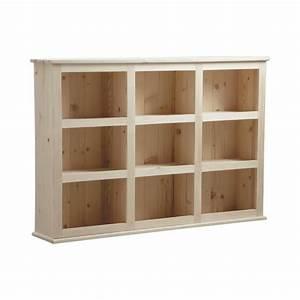 Etagere Murale En Bois : etag re en bois brut avec 9 casiers achat vente ~ Dailycaller-alerts.com Idées de Décoration