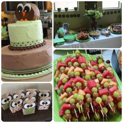 owl themed kids birthday party inexpensive  simple