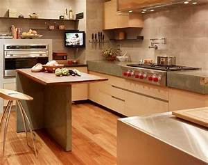 Concrete Countertops and Kitchen Island SF High-Rise