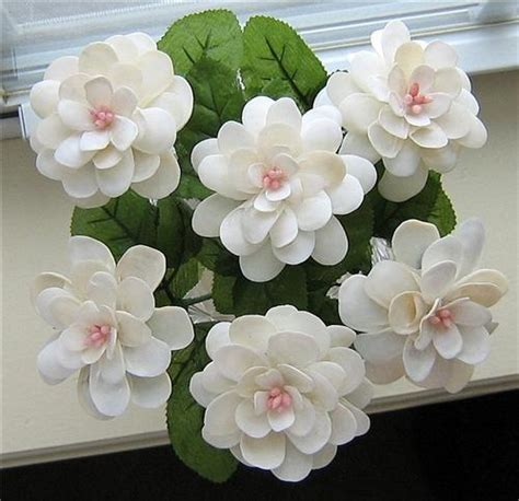 how to make seashell flowers sold white seashell flowers ocean blooms now