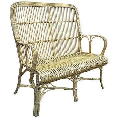 Bamboo Settee - joseph p mchugh rattan settee the wicker shop