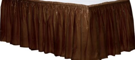 party city table skirts chocolate brown plastic table skirt