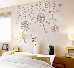 flower vines and butterflies wall decal modern wall With modern wall decals
