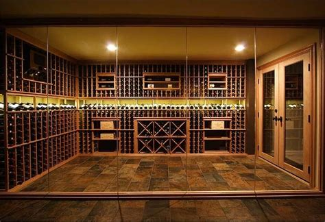 custom glass enclosed wine cellar traditional beer