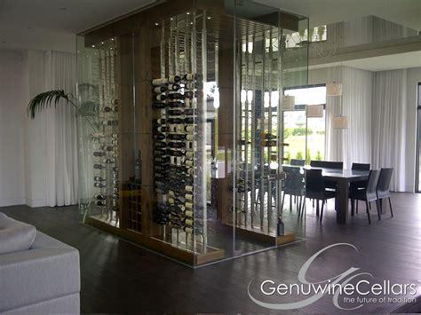 Glass-enclosed Wine Cellars