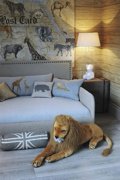 safari themed boys bedroom transitional boys room
