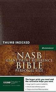 nasb reference bible giant print personal size With nasb life application study bible red letter