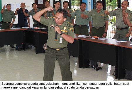 unodc indonesia melatih polisi hutan kalimantan tengah