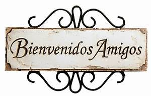Spanish Welcome Friends Sign Bienvenidos Amigos item 589D