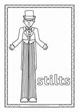Circus Colouring Sparklebox Sheets sketch template