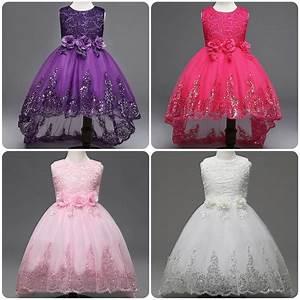 Flower Girl Bow Princess Dress Baby Kids Party Wedding ...