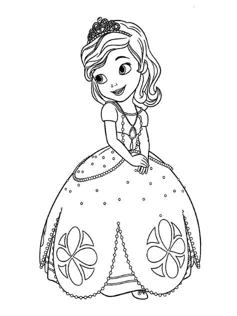 dibujos de la princesa sofia  colorear dibujos disney