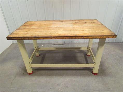 butcher block workbench heavy duty butcher block top workbench table bolted steel