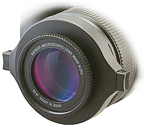 dcr 250 macro conversion lens for d slr cameras 4k and hdv camcorders