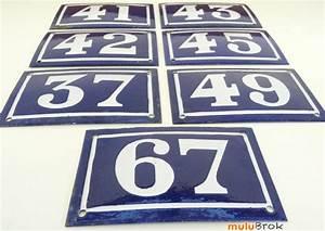 Plaque Numero Maison : d coration numero pour maison ancienne plaque maill e mulubrok brocante en ligne ~ Teatrodelosmanantiales.com Idées de Décoration